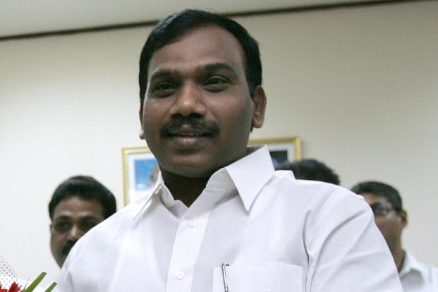 Former telecom minister A. Raja. Photo: AFP