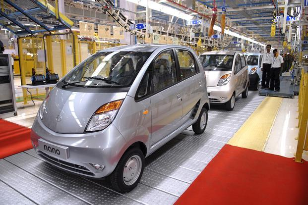 A file photo of Tata Motors' Nano assembly line at Sanand, Gujarat. Photo: Abhijit Bhatlekar/Mint