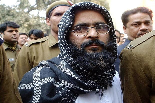 A file photo of Afzal Guru, who was hanged last week for his role in the 2001 Parliament attack case. Photo: AFP