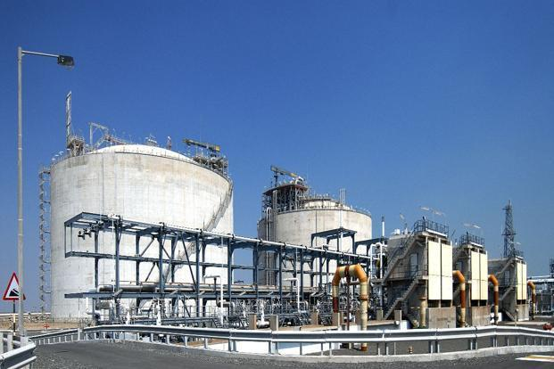 Shell's LNG terminal at Hazira in Gujarat.