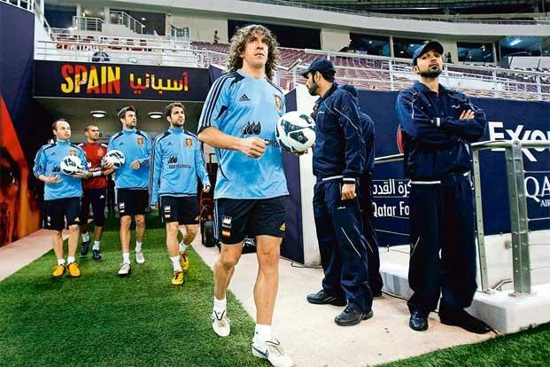 Puyol is said to have the quickest reactions and most explosive strength..Photo: Fadi Al-Assaad/Reuters