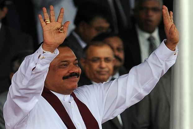 A file photo of Sri Lankan President Mahinda Rajapakse. Photo: AFP