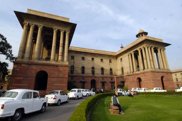 A file photo of the North Block where the finance ministry is situated. Photo: Ramesh Pathania/Mint
