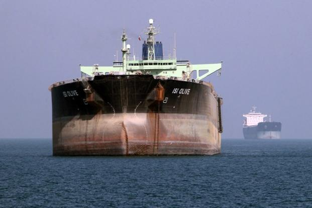 A file photo of an oil tanker seen off the port of Bandar Abbas, southern Iran. The crew members are refusing to accept payment in rupees. Photo: Atta Kenare/AFP