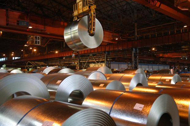 Exports of Iron and steel accounted for 3.76% of the total 2010-11 exports.