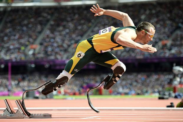 A file photo of Pistorius. A sports icon for triumphing over disabilities to compete with able-bodied athletes at the Olympics, his sponsorship deals are thought to be worth $2 million a year. Photo: Reuters