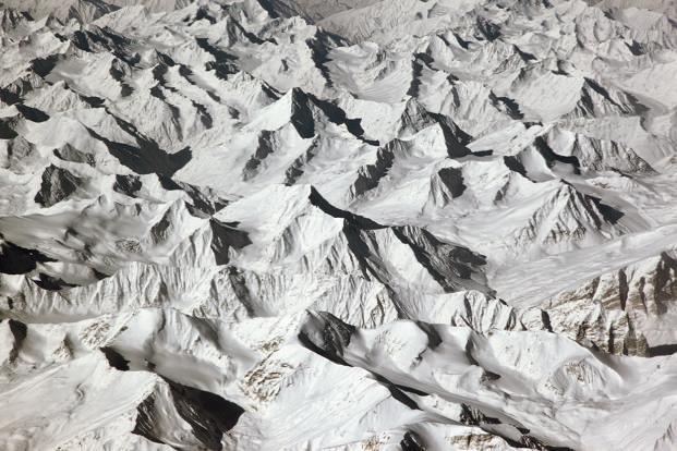 This aerial view of Leh was taken in the first week of March last year, on the way back to Delhi