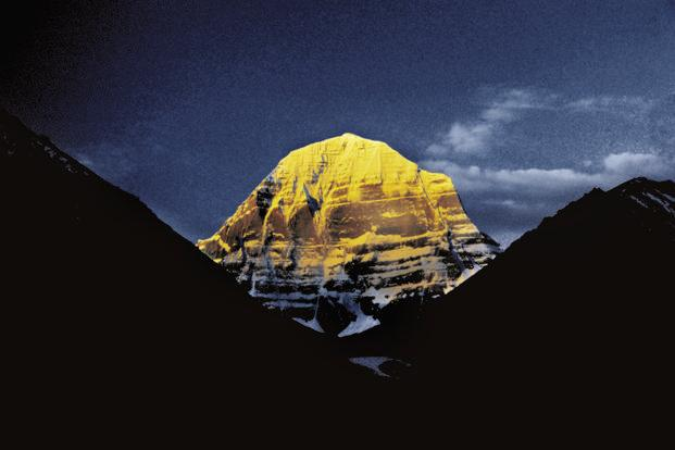 Mount Kailash, the highest peak in the Kailash range. Dilwali describes this as among the most graceful peaks he has ever photographed