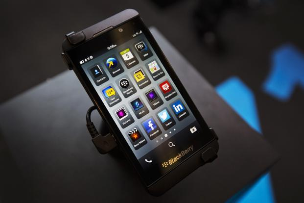 Reports peg the India price of the Blackberry Z10, expected to launch in the country on 25 February, at around `39,000. Photo: Mark Blinch/ Reuters