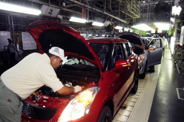 A file photo of a Maruti Suzuki factory. Photo: Ramesh Pathania/Mint
