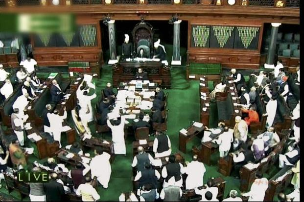 A file photo of the Lok Sabha during the winter session in 2012. A fresh round of hikes in petrol and diesel prices by the government scrambling to reduce its fiscal deficit is only expected to add to the UPA's discomfort in the budget session. Photo: PTI