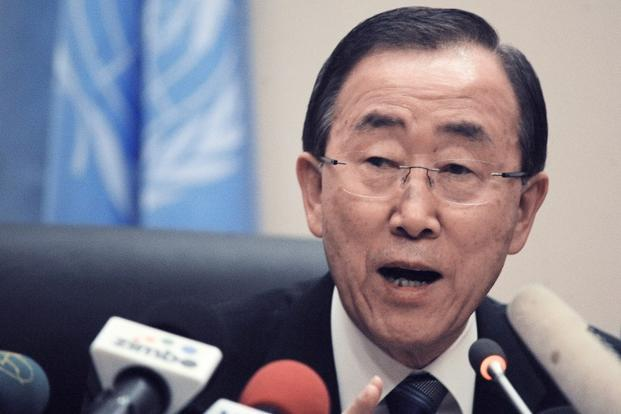 A file photo of UN Secretary General Ban Ki Moon in Addis Ababa. Photo: AFP