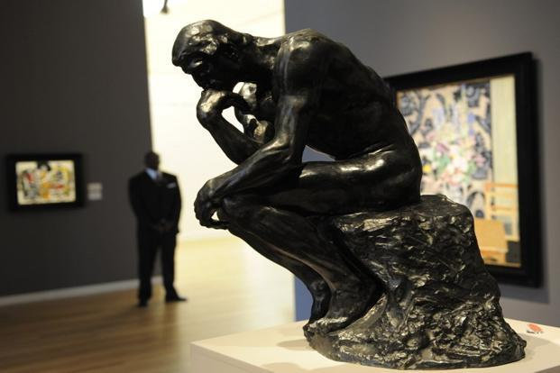 "A sculpture titled ""Le Penseur"" by Auguste Rodin in New York. Photo: AFP"