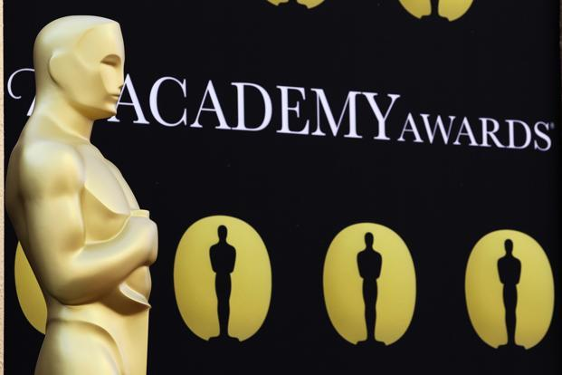 A file photo of an Oscar statue in Los Angeles, Califorina. Photo: AP