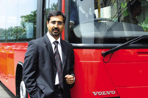 Akash Passey, chairman of Volvo's India bus unit.