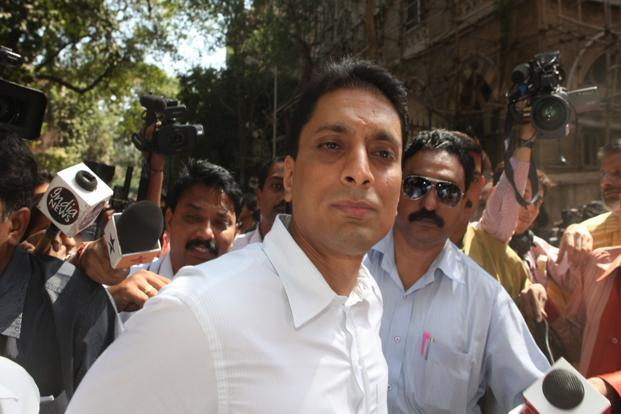 A file photo of Shahid Balwa outside session court at Fort in Mumbai. Photo: Hindustan Times