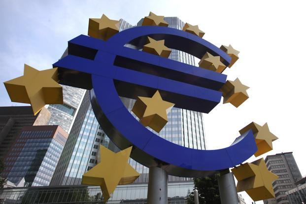 The commission sees the euro zone economy growing 1.4% in 2014, with a figure of -0.6% for 2012. Photo: AFP