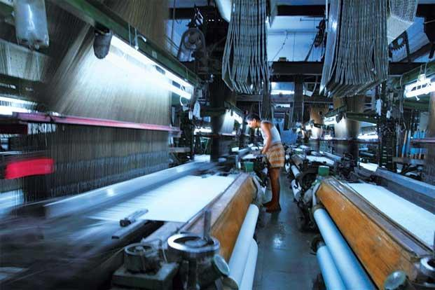 Powerloom weaving at Kaplon Industries. Photo: Sanjay Nigam