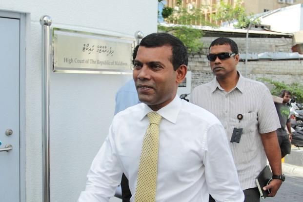 Tensions between the India and Maldives rose again earlier this month when Nasheed sought shelter in the Indian high commission in the Maldives. Photo: AFP