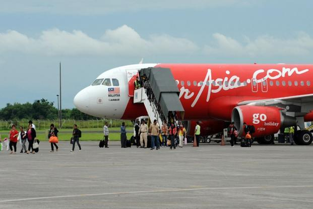 A file photo of an AirAsia aircraft. AirAsia Bhd has submitted an application to the Indian government seeking approval to start domestic operations. Photo: Ted Aljibe/AFP
