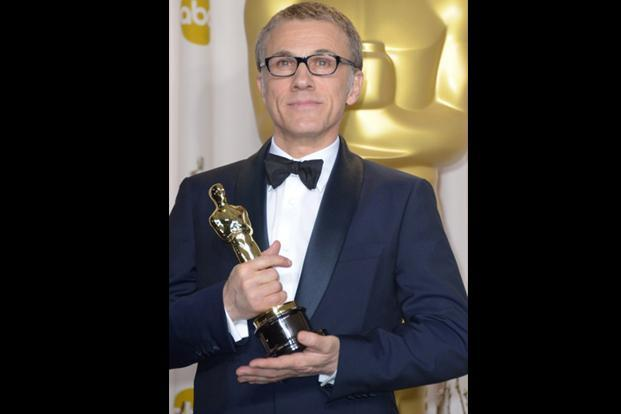 Christoph Waltz holds his Oscar for Best Actor in a Supporting Role for his performance in <i>Django Unchained.</i> The Austrian won his second Oscar in this category having won for another Tarantino movie Inglourious Basterds in 2010.AFP