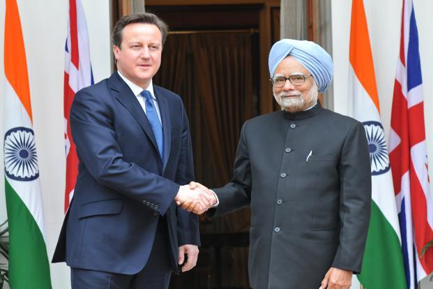 "A file photo of UK Prime Minister David Cameron (left) and Indian Prime Minister Manmohan Singh. The sky is the limit,"" Cameron said in his first public engagement during his recent visit to India. The phrase he used was a nearly worn-out metaphor, but we do hear it often in daily, informal conversation.  Photo: PIB"