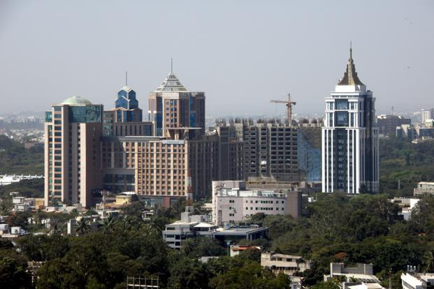 UB City, with a total built-up area of 1.6 million sq. ft, is home to India's first luxury mall as well as the headquarters of the UB Group's alcohol companies. Photo: Wikimedia Commons