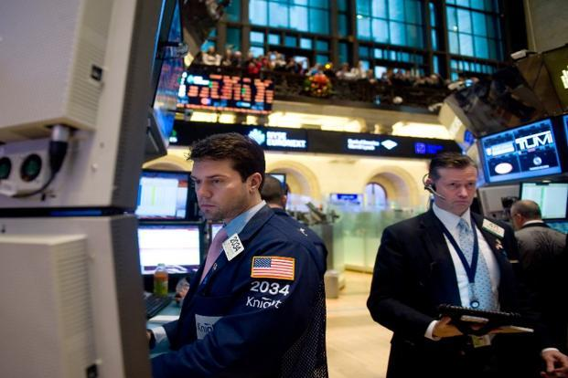 The Dow Jones industrial average dropped 216.40 points, or 1.55%, to 13,784.17 at the close. The Standard & Poor's 500 Index lost 27.75 points, or 1.83%, to 1,487.85. Photo: AFP