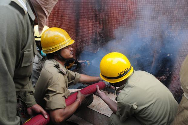 A file photo of rescue operations in Kolkata. Emergency officials said death toll could rise further as many of those rescued were in critical condition and sent to nearby hospitals. Photo: Mint