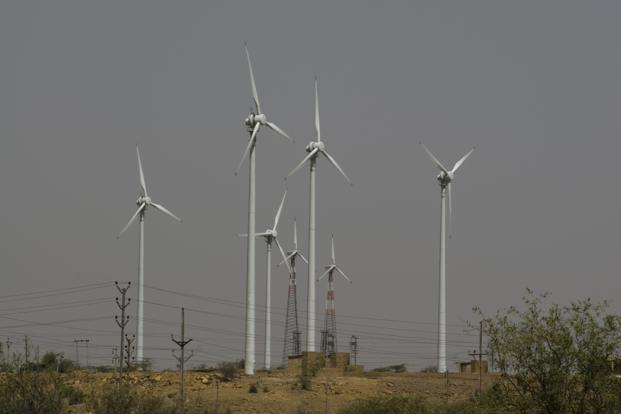 A file photo of a Suzlon wind power generation facility in Rajasthan. Photo: Mint