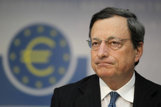 "ECB Mario Draghi said, however, that the central bank's balance sheet, which has already come down from highs above €3 trillion, could see ""a natural shrinking"" as banks pay back funds they do not need, and added that the ECB has plenty of instruments to rein in liquidity when needed. Photo: Reuters"