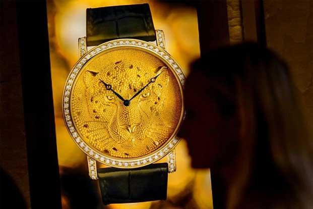 A file photo of a Cartier watch, part of the Swiss luxury goods group Richemont. Photo: AFP