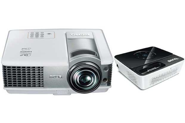 Spoilt for choice: ( from left) The W1500 wireless projector and the Joybee GP3 portable.