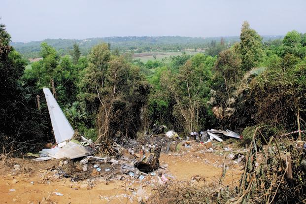 As many as 158 people died in India's worst air crash in a decade in Mangalore in 2010 when an Air India Express flight IX-812 overshot a hilltop runway. Photo: Hemant Mishra/Mint (Hemant Mishra/Mint)