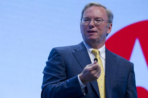 Google chairman Eric Schmidt will on Wednesday launch the programme for technology entrepreneurs. Photo: Jin Lee/Bloomberg
