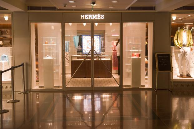 A file photo of a Hermes showroom in New Delhi. Photo: Mint