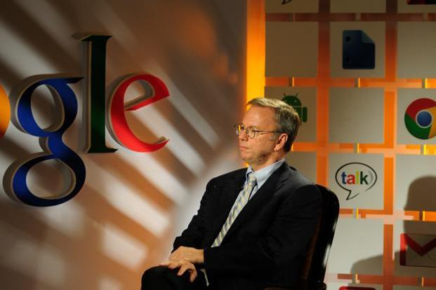 A file photo of Google's executive chairman Eric Schmidt. Photo: Pradeep Gaur/Mint