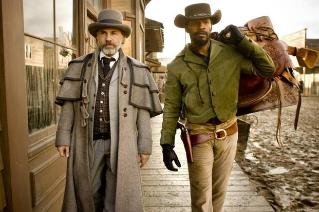 Christoph Waltz (left) and Jamie Foxx in a still from 'Django Unchained'