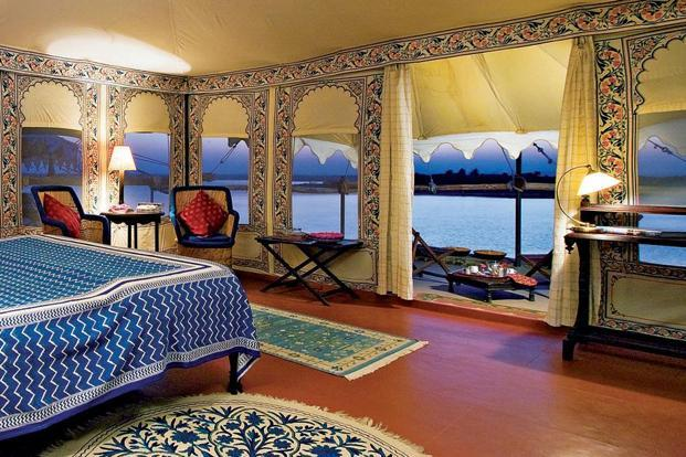 One of the 11 plush canvas tents at Chhatra Sagar