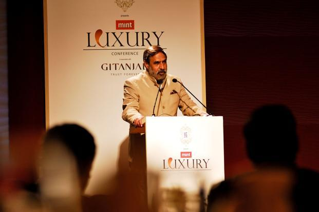 Trade minister Anand Sharma at the Mint Luxury Conference in New Delhi on 22 March. Photo: Priyanka Parashar/Mint