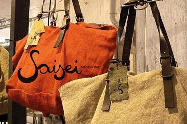 Saisei bags made from old materials. Photo courtesy: Aneeth Arora