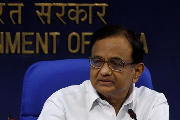 A file photo of finance minister P. Chidambaram. Photo: Hindustan Times