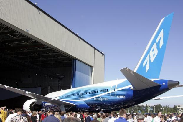 "A file photo of the Boeing 787 Dreamliner. If found successful, the test flight will allow Boeing to go ahead with a second flight test ""in coming days"" that would gather data to be submitted to the Federal Aviation Administration to certify the new battery system. Photo: AFP"