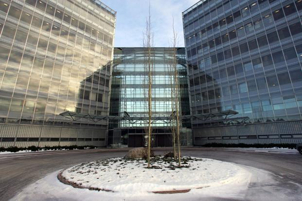 A file photo of the Nokia headquarters in Finland. Tax officials said in an interim report that Nokia should pay `13,000 crore for tax and transfer pricing violations, The Economic Times reported on 13 January. Photo: Reuters (Reuters)