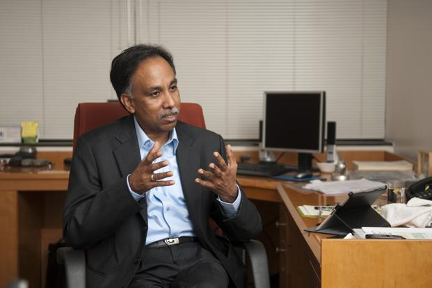 S.D. Shibulal, chief executive of Infosys and the last of the founders to lead the firm, hopes to regain some of the lost momentum by chasing volume growth. Photo: Aniruddha Chowdhury/Mint
