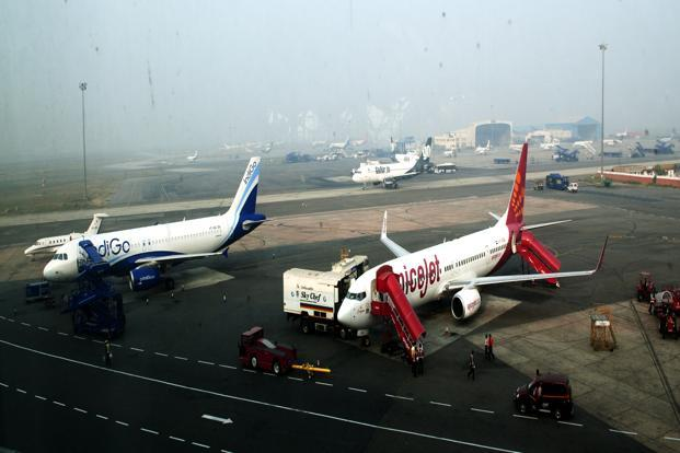 India's domestic airlines carried 4.89 million passengers in February, compared with 5.06 million in the year earlier, DGCA data show. Photo: Ramesh Pathania/Mint