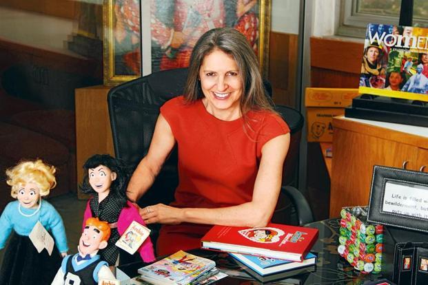 Nancy Silberkleit in her New York office