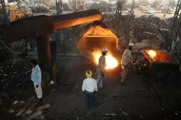 Iron and steel contributed most to the restructured loan pile—23%. Photo: Pradeep Gaur/Mint (Pradeep Gaur/Mint)