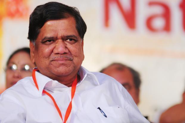 A file photo of Jagadish Shettar, the BJP's chief ministerial candidate in the Karnataka assembly elections. Photo: Ramesh Pathania (Ramesh Pathania)