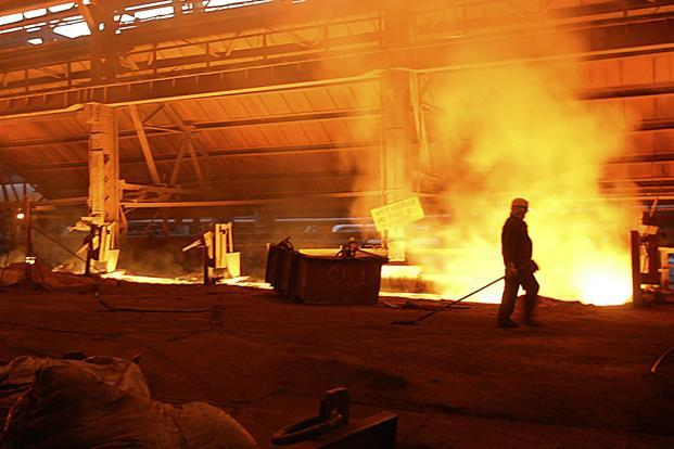 Total saleable steel production of Tata Steel rose 27% to 2.26 million tonnes in January-March. Photo: Santosh Verma/Bloomberg News